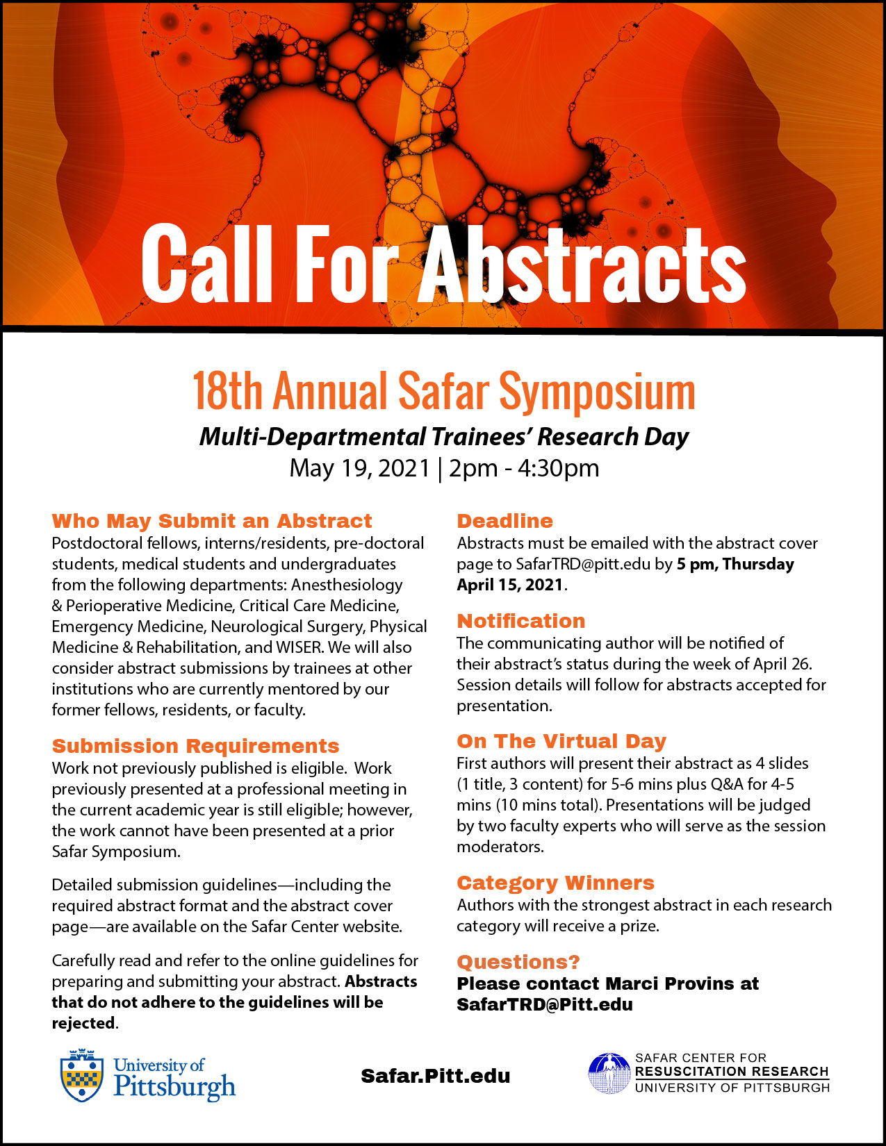 Call for abstracts Safar 2021